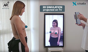 CRISALIX 3D simulation with 4D AR projection on TV